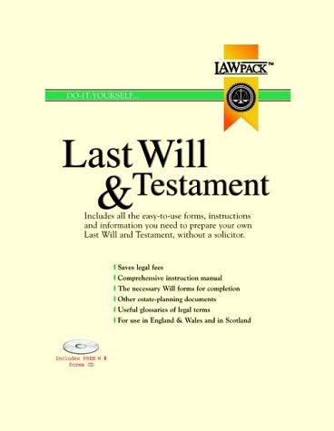 Last Will and Testament Kit (Will & Testament) Last Will and Testament Kit (Will & Testament)