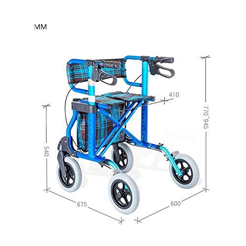 Rollator Walker Vive, Rolling Walker with Seat Adjustable Handle Height Lockable Brake Auxiliary Walking Safety Walker by YL WALKER (Image #2)