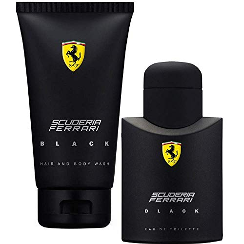 Scuderia Ferrari Black Masculino EDT 75ml + Gel de Banho 150ml - Kit Perfume Masculino