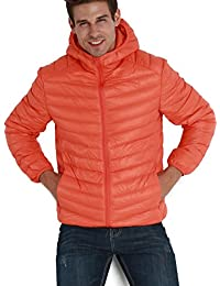 CHERRY CHICK Men's Ultralight Down Puffer Parka Jacket with Hood