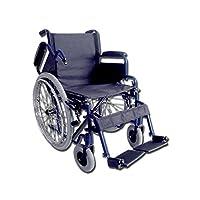 GIMA OXFORD wheelchair, 43 cm black seat, folding day wheel chair