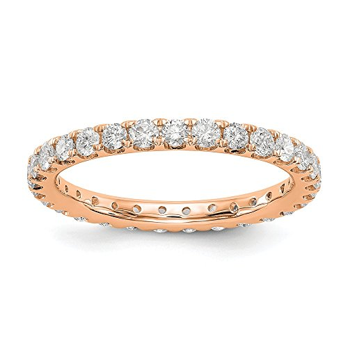 14k Rose Gold Lab Grown Diamond SI1/SI2, G-H Eternity Wedding Band - Si1 14k Diamond Rose