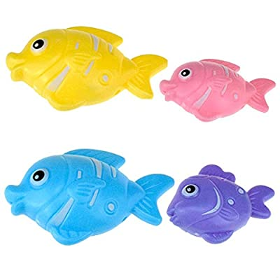 Fitfulvan Child Bath Toys Fun Bathroom Dolphin Manipulator Gobble Early Educational Water Toy Creativity Floating Toy: Toys & Games