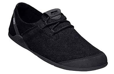 Xero Shoes Hana - Men's Casual Canvas Barefoot-Inspired Shoe Black Size: 6.5 US