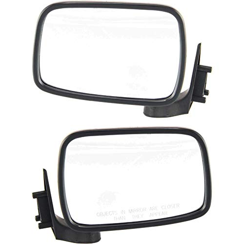 Manual Mirror compatible with Mazda Pickup 86-93 Right and Left Side Manual Folding Non-Heated Chrome