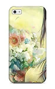 Shauna Leitner Edwards's Shop Hot Protection Case For Iphone 5c / Case Cover For Iphone(pretty Girl With Flowers) 8932737K12225314