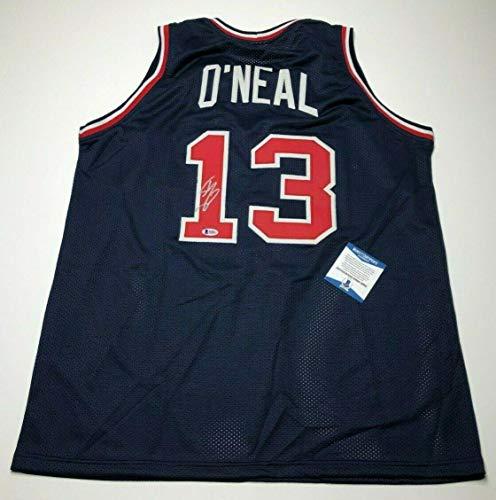 (Shaquille 'Shaq' O'Neal Signed Olympics Team USA Basketball Jersey BAS B58832 - Beckett Authentication)