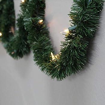Amazon Com Christmas Garland With 40 Led Lights Battery