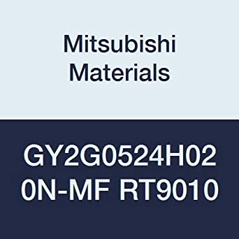 H Seat 0.008 Corner Radius 0.206 Grooving Width Pack of 10 Mitsubishi Materials GY2G0524H020N-MF RT9010 Series GY Carbide Grooving Insert for Multifunctional and Finishing 2 Teeth