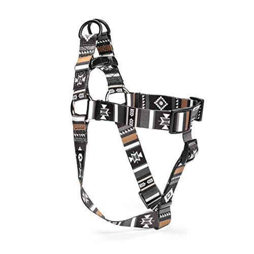 Wolfgang Man & Beast Premium USA Webbing Dog Harness, LokiWolf Print, Medium (5/8 Inch x 16-24 Inch)