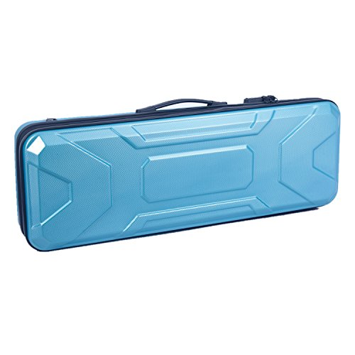 Crossrock CRA400VFTU 4/4 Full Size Violin Case, Zippered ABS Molded Backpack Style in Turquoise