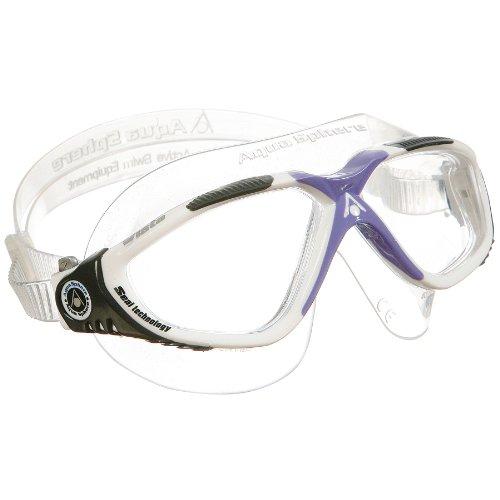- Aqua Sphere Vista Lady Swim Mask, White/Lavender