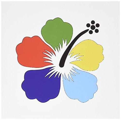 - 3dRose Hawaiian Vivid Multi Color Hibiscus - Greeting Cards, 6 x 6