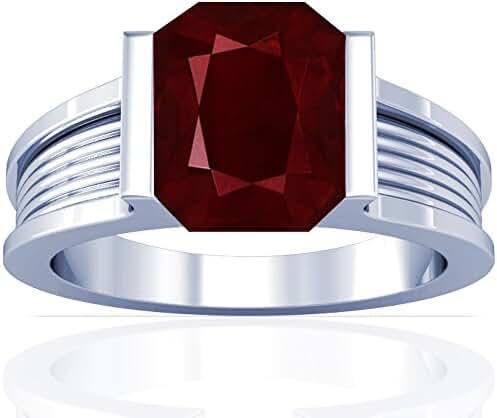 Platinum Emerald Cut Ruby Solitaire Ring (GIA Certificate)
