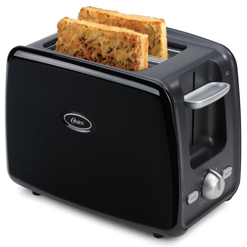 Oster 6346 2-Slice Toaster with Retractable Cord, Black