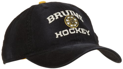 Cap Reebok Embroidered (NHL Official Team Slouch Adjustable Cap, Boston Bruins, One Size Fits All)