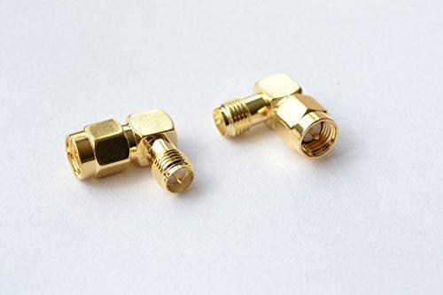 2pcs-SMA-Male-Plug-PIN to RP-SMA Female-Plug-Pin Right Angle High Value - Sma Rp Male Plug