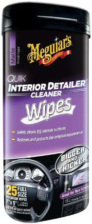 Meguiar's G13600 7″ X 9″ Quick Interior Detailer Wipes 25 – The Super Cheap