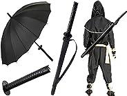 COOROO Golf Long Umbrella Automatic Knife Push Button, Samurai Sword Katana Umbrella Japanese Style Ninja Styl