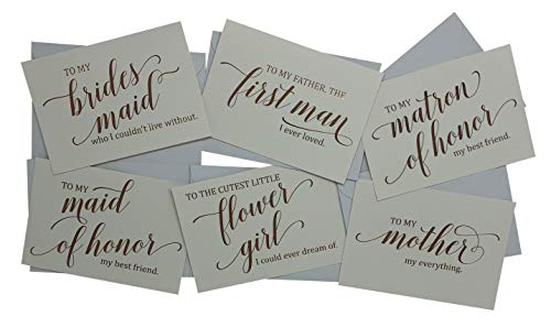 Wedding Party Thank You Cards - Beautifully Foil