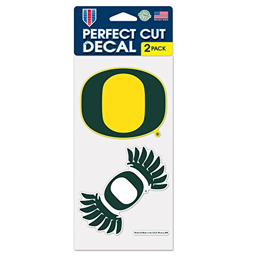 WinCraft NCAA University of Oregon Perfect Cut Decal (Set of 2), 4