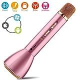 WJZCL Wireless Karaoke Microphone, Bluetooth Handheld Karaoke Machine with Speaker Mic Party KTV