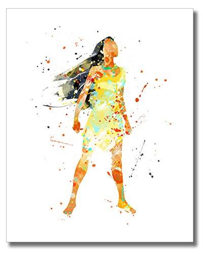 Pocahontas - Disney Princess Watercolor Photo Prints - Unique Kids Wall Art