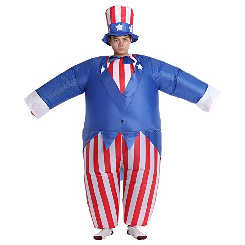 Alomejor Inflatable Party Clothing Men's Cute Halloween Costume Sam Cosplay Inflatable Suit for Festival Suits