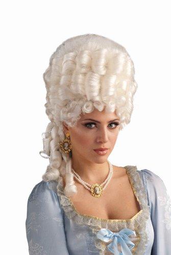 Antoinette Costumes Marie Halloween (Forum Novelties Women's Marie Antoinette Wig Adult Costume Accessory, Platinum Blonde, One)