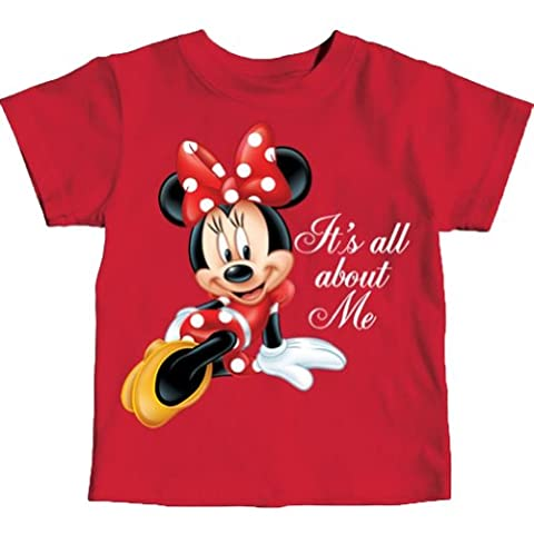 Minnie Mouse Toddler Girls Its All About Me T Shirt (4T) - Toddler Purple Character T-shirt