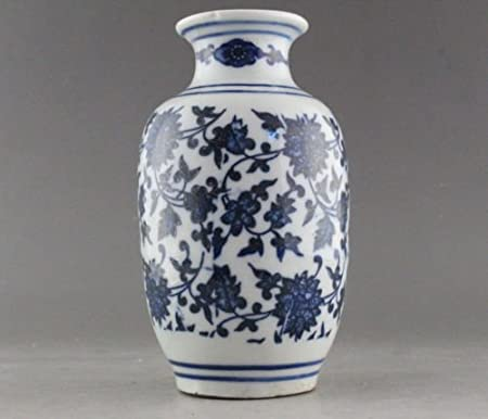 Rare Blue And White Porcelain Flower Vase Of Chinese Antique Amazon