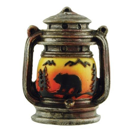 Camping Camp Lantern Oil Lamp Figure Collectible Magnet, 2.5-inch