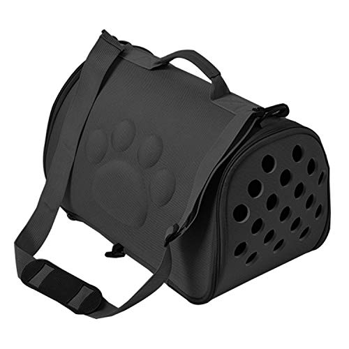Better With You Dogs Cat Folding Pet Carrier Cage Collapsible Puppy Crate Handbag Carrying Bags Pets Supplies Transport Chien Accessories,Black,L