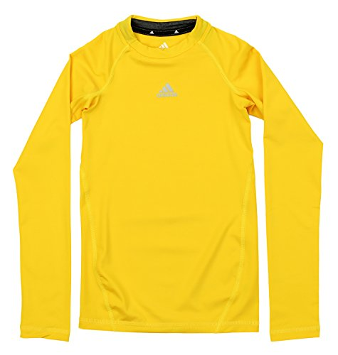 Youth Star Long Sleeve - adidas Youth Boys Core Compression Long Sleeve Shirt, Superstar Yellow