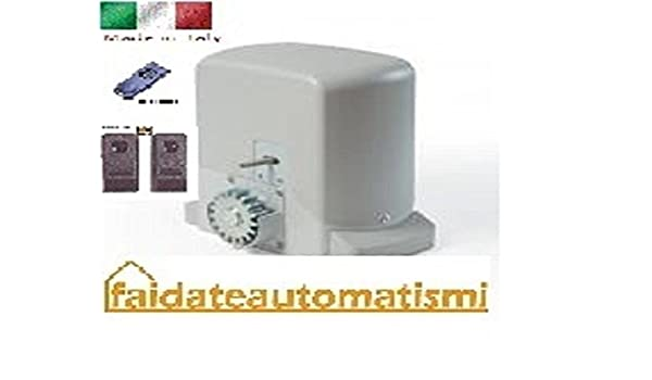Kit BFT AUTOMAZIONE Puerta Corredera automático apricancello eléctrico Motor: Amazon.es: Electrónica