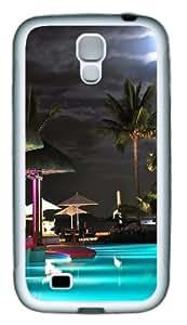 Samsung Galaxy S4 Case Cover - Swimming Pool Resort TPU Hard Plastic Case for Samsung Galaxy S4 / SIV/ I9500 - White