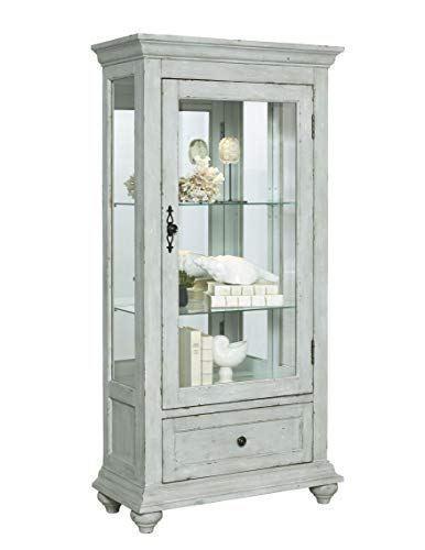 Pulaski  Traditional Antique 2 Shelves Curio Display Cabinet with Led Light, 30