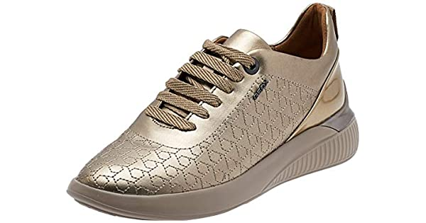 Geox D Theragon C, Women's Fashion Sneakers, Rose Gold, 36