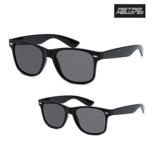 Premium Flex-Fit Unisex 2-Pack Parent and Kiddo Matching Retro Wayfarer Sunglasses