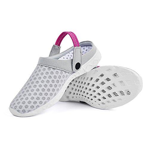 Footmat Unisex Donna Da Uomo Zoccolo Da Giardino Scarpe Pantofole Asciugatura Rapida Sandali Lightgrey