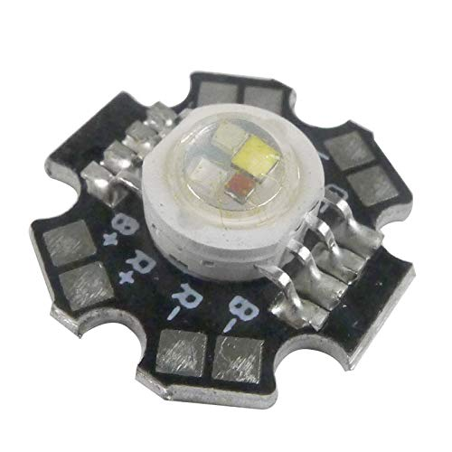 Led World 10 PCS 12W RGBW High Power LED Light Beads Red Green Blue White Lamp With 20mm PCB