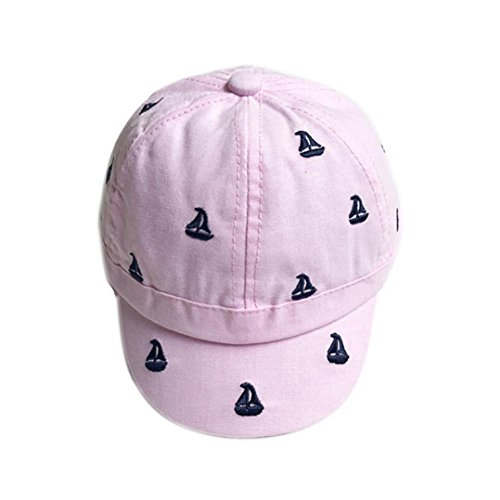 Jugs Small Ball Bucket (Iuhan Small Sailboat Printing Baby Girls Boys Baseball Caps Summer Hats Caps (Pink))