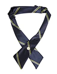 Cookie's Brand Crisscross Neck Tie - navy/gold, one size