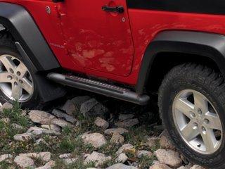 Black Tubular Side Steps for 2007-2013 Jeep Wrangler 2 Door-Mopar OEM