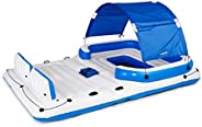 Bestway Hydro-Force Tropical Breeze Extra Large 6-Person Adult Water Inflatable Party Island Float Lake Float,