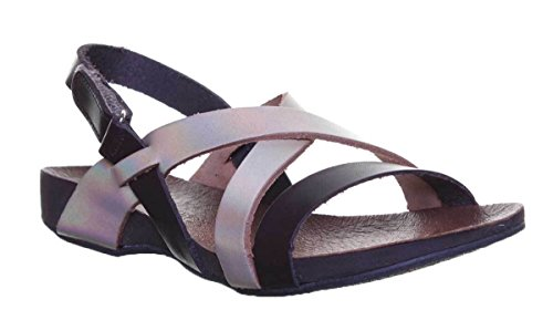 Reece Womens Sandal Brown Gold Open Toe Sandal Justin Footbed Ladies Leather 6fOgq