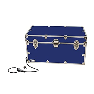 College Dorm Room & Summer Camp Lockable Trunk Footlocker with Cable Lock - Undergrad Trunk by C&N Footlockers - Available in 20 colors - Large: 32 x 18 x 16.5 Inches