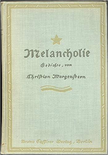 Gedichte Melancholie Christian Morgenstern Amazoncom Books