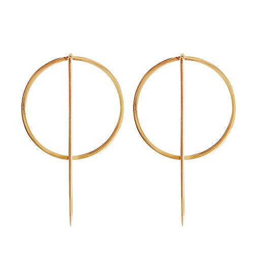 Geometric Modeling Simple Golden Earrings Girl Woman