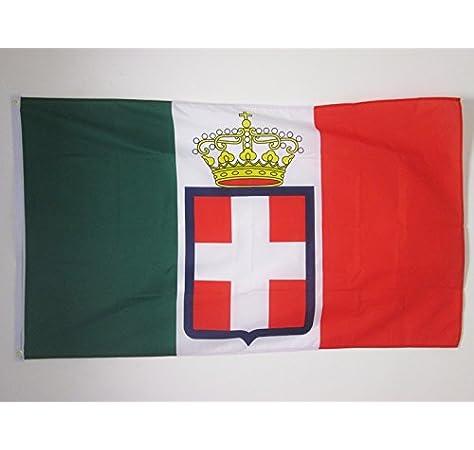AZ FLAG Bandera del Reino DE Italia Corona 150x90cm - Bandera Italiana Real 90 x 150 cm: Amazon.es: Jardín